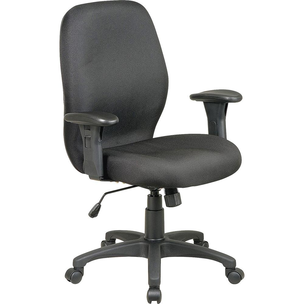 Lorell High Performance Ergonomic Chair With Arms Black