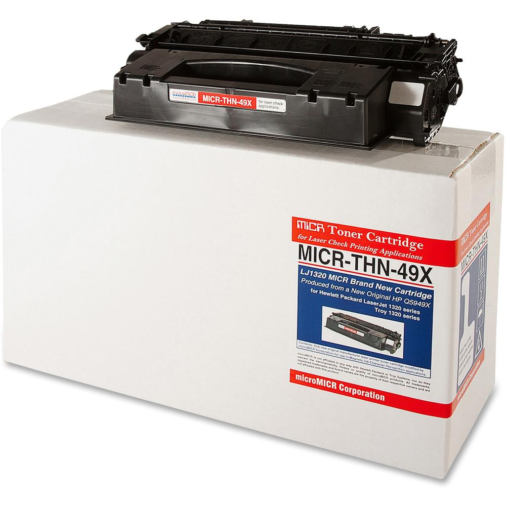 microMICR MICR Toner Cartridge - Alternative for HP 49X - Laser - 6000 Pages - Black - 1 Each. Picture 1