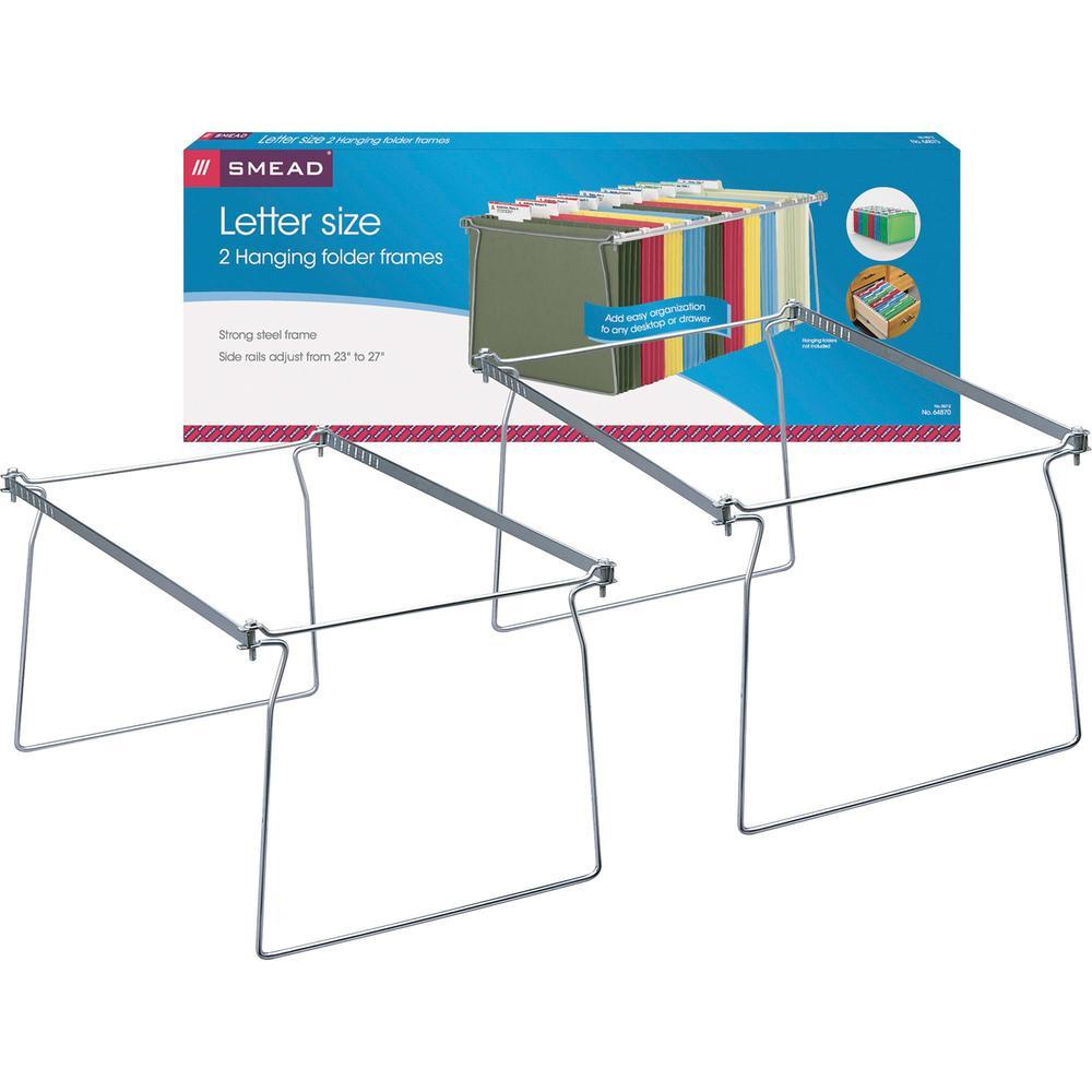 "Smead Hanging Folder Frames - Letter - 23""-27"" Long - Steel - Gray - 2 / Pack. Picture 1"