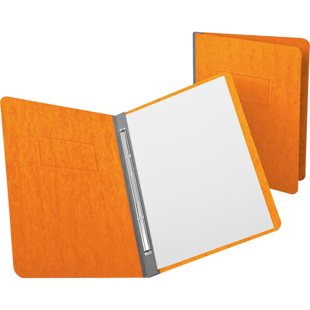 """Oxford PressGuard Reinforced Hinge Report Covers - 3"""" Folder Capacity - Letter - 8 1/2"""" x 11"""" Sheet Size - 2 Fastener(s) - 20 pt. Folder Thickness - Pressguard - Tangerine - Recycled - 1 Each. Picture 1"""