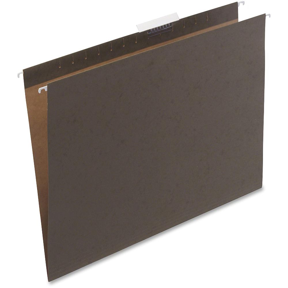 Safco Hanging File Folders - Green - 8 lb - 25 / Box. Picture 1