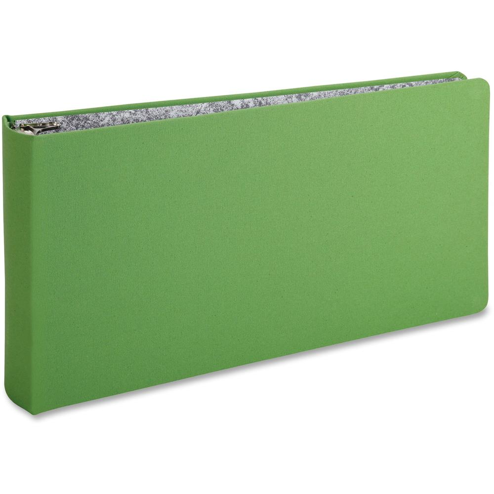 """Oxford 3-Ring Binder - 2"""" Binder Capacity - Legal - 8 1/2"""" x 14"""" Sheet Size - 3 x Round Ring Fastener(s) - Canvas - Green - Wear Resistant, Tear Resistant, Reinforced Hinge, Sheet Lifter - 1 Each. Picture 1"""