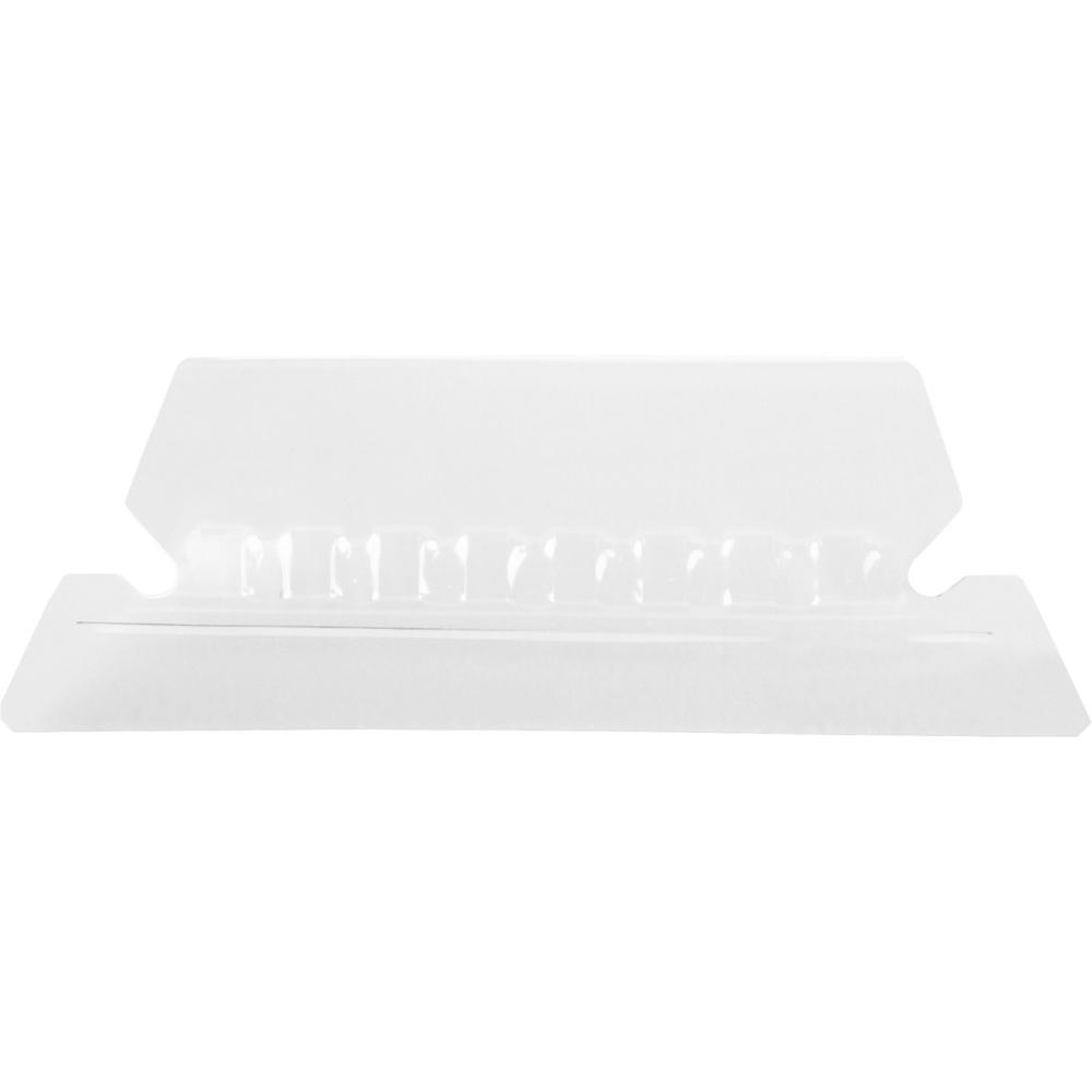 "Pendaflex Hanging Folder Plastic Tabs - 5 Tab(s)/Set2"" Tab Width - Clear Plastic Tab(s) - 25 / Pack. Picture 1"