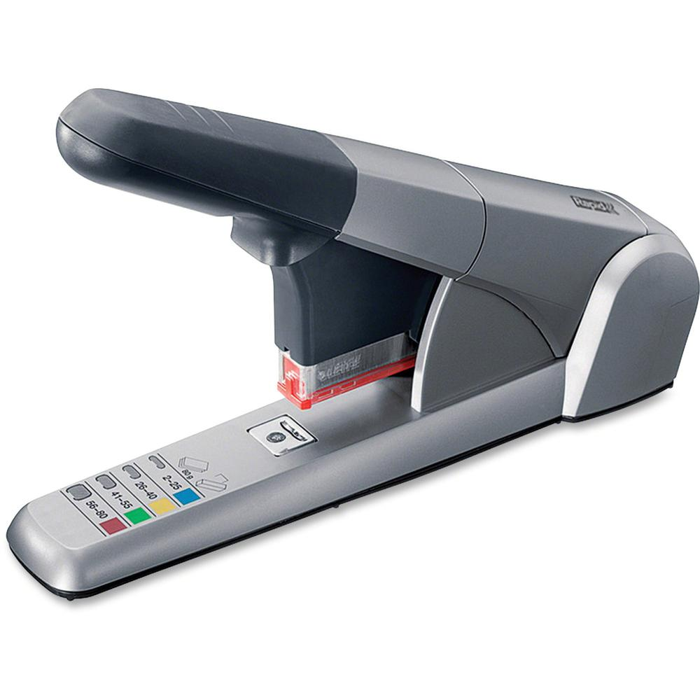 Rapid Heavy Duty Cartridge Stapler - 80 Sheets Capacity - 210 Staple Capacity - Silver. Picture 1