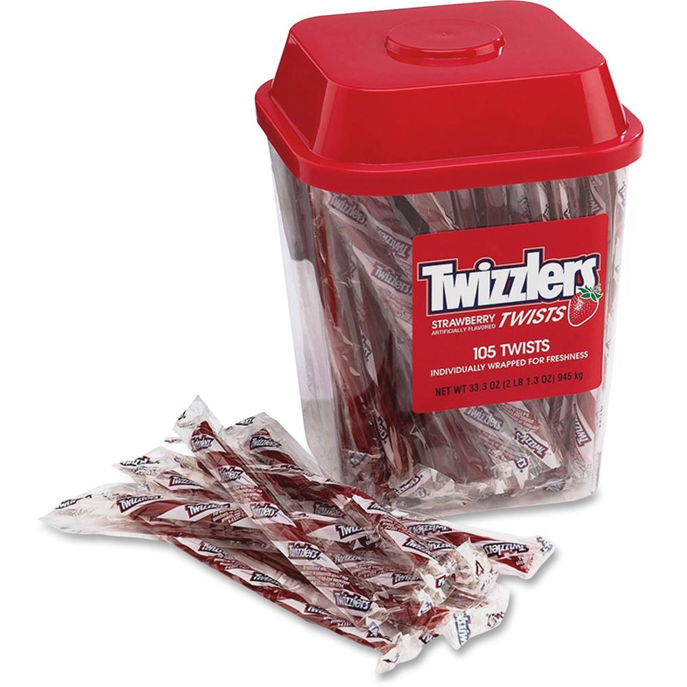 Twizzlers Hershey Co. Strawberry Candy Twists - 2.08 lb - 1 Each. Picture 1