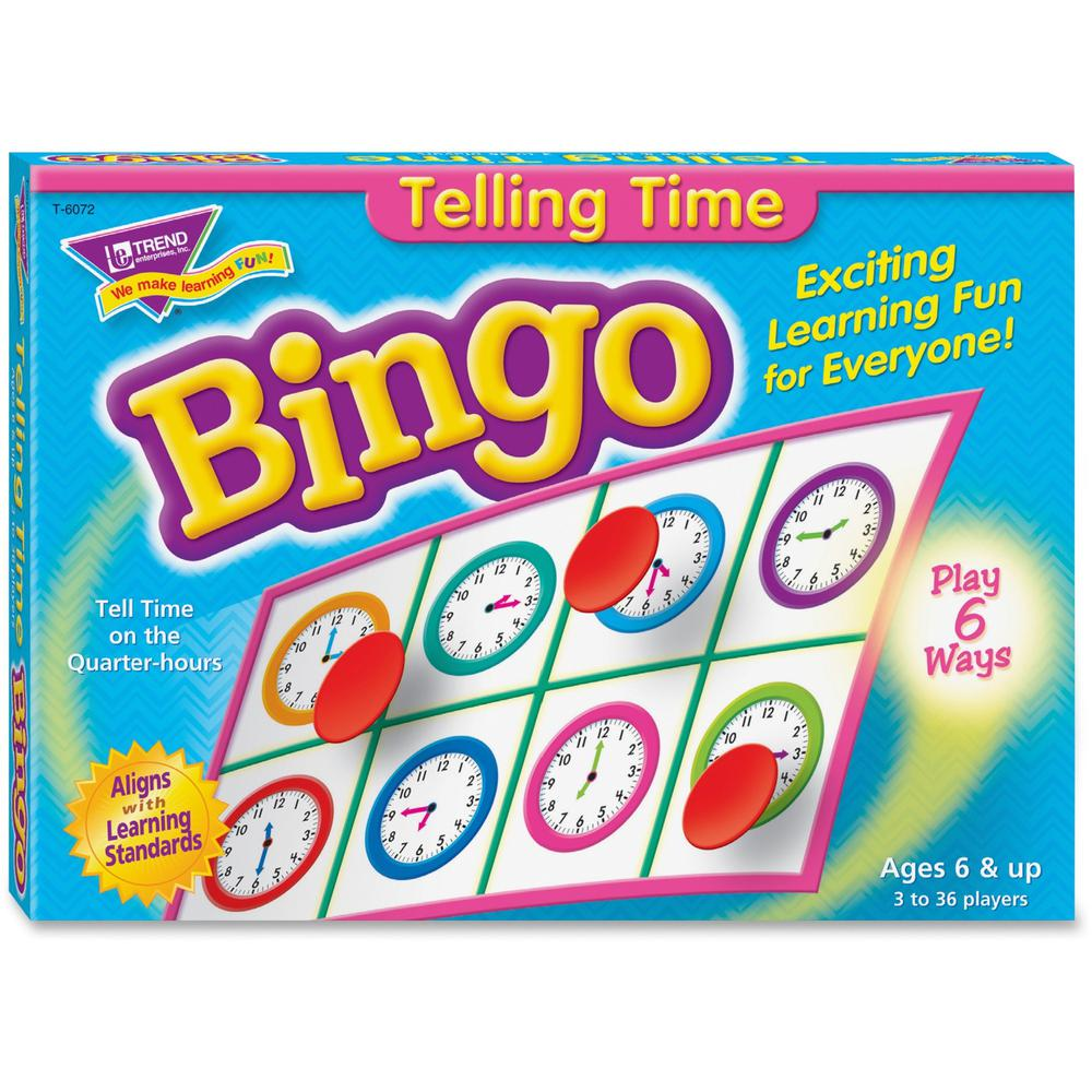 Trend Telling Time Bingo Game - Theme/Subject: Learning - Skill Learning: Time, Language - 6-8 Year. Picture 1