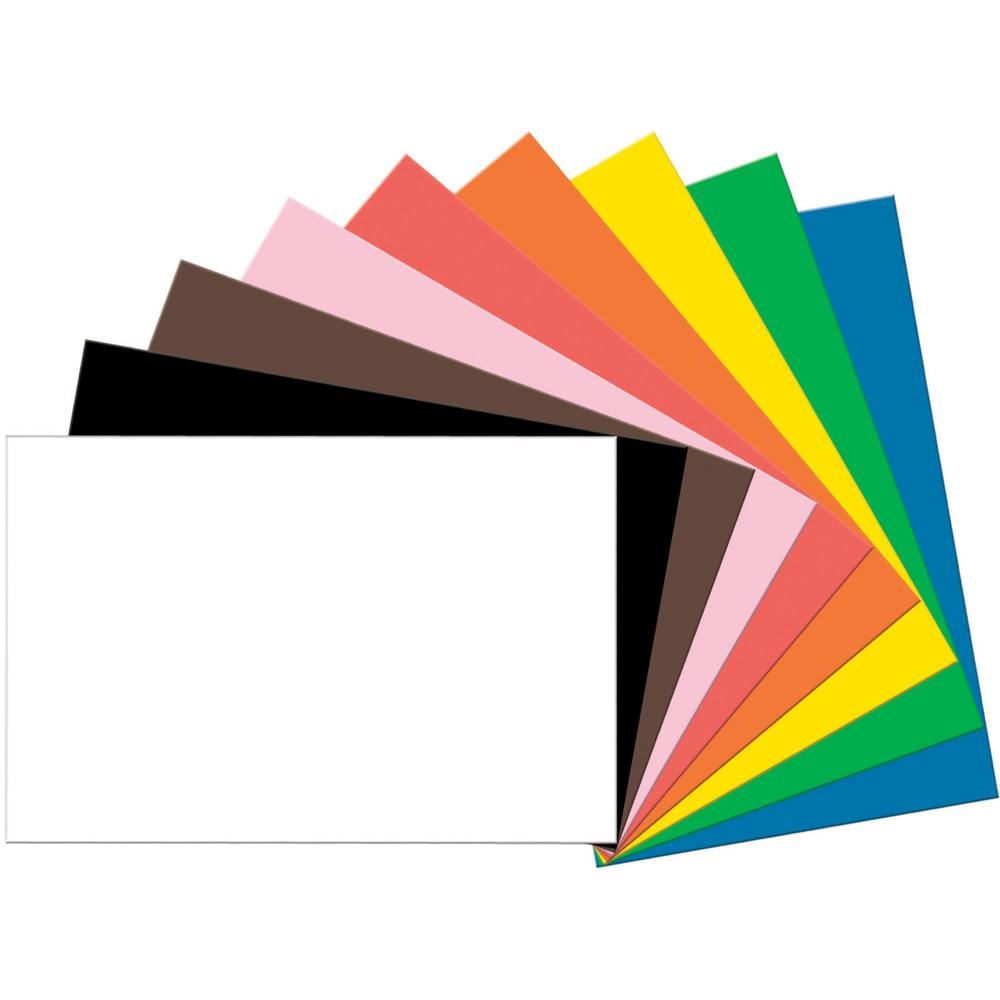 """Tru-Ray Heavyweight Construction Paper - 36"""" x 24"""" - 50 / Pack - Assorted - Sulphite. Picture 1"""