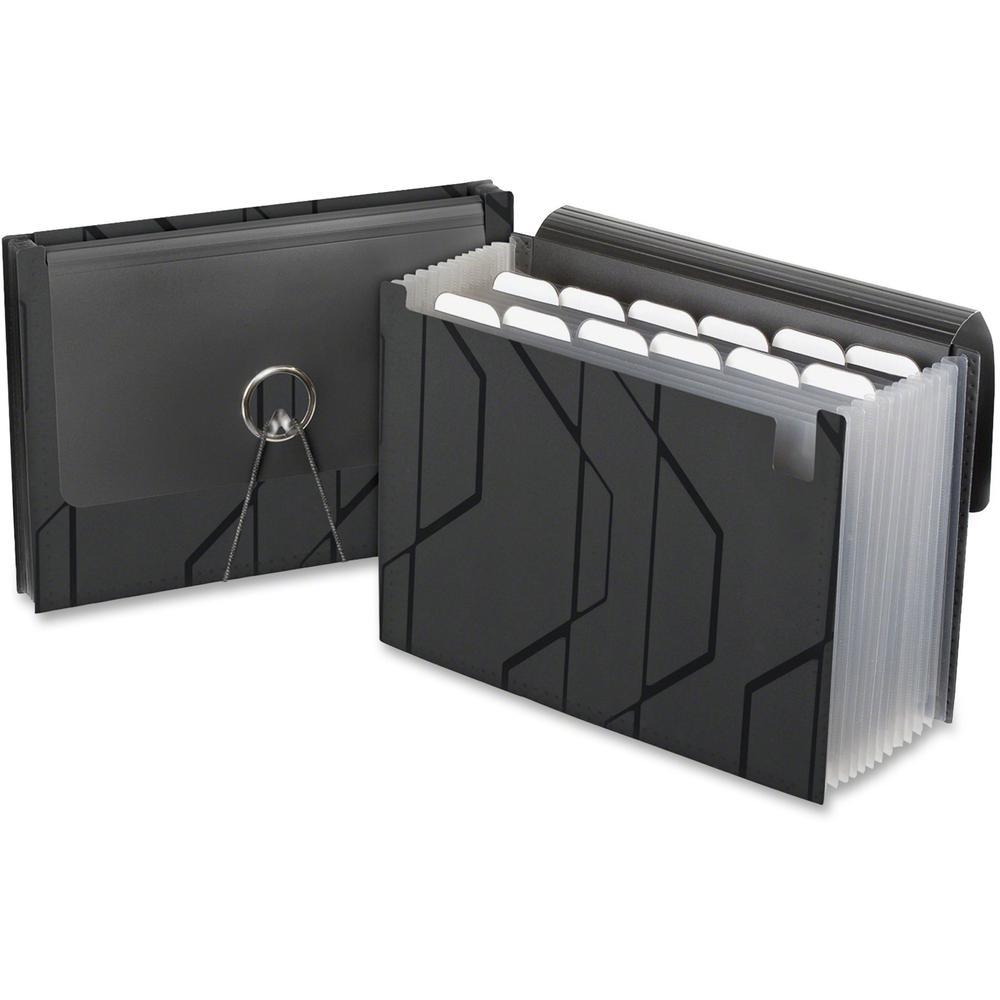 Pendaflex Expanding File - 13 Pocket(s) - Poly - Black - 1 Each. Picture 1