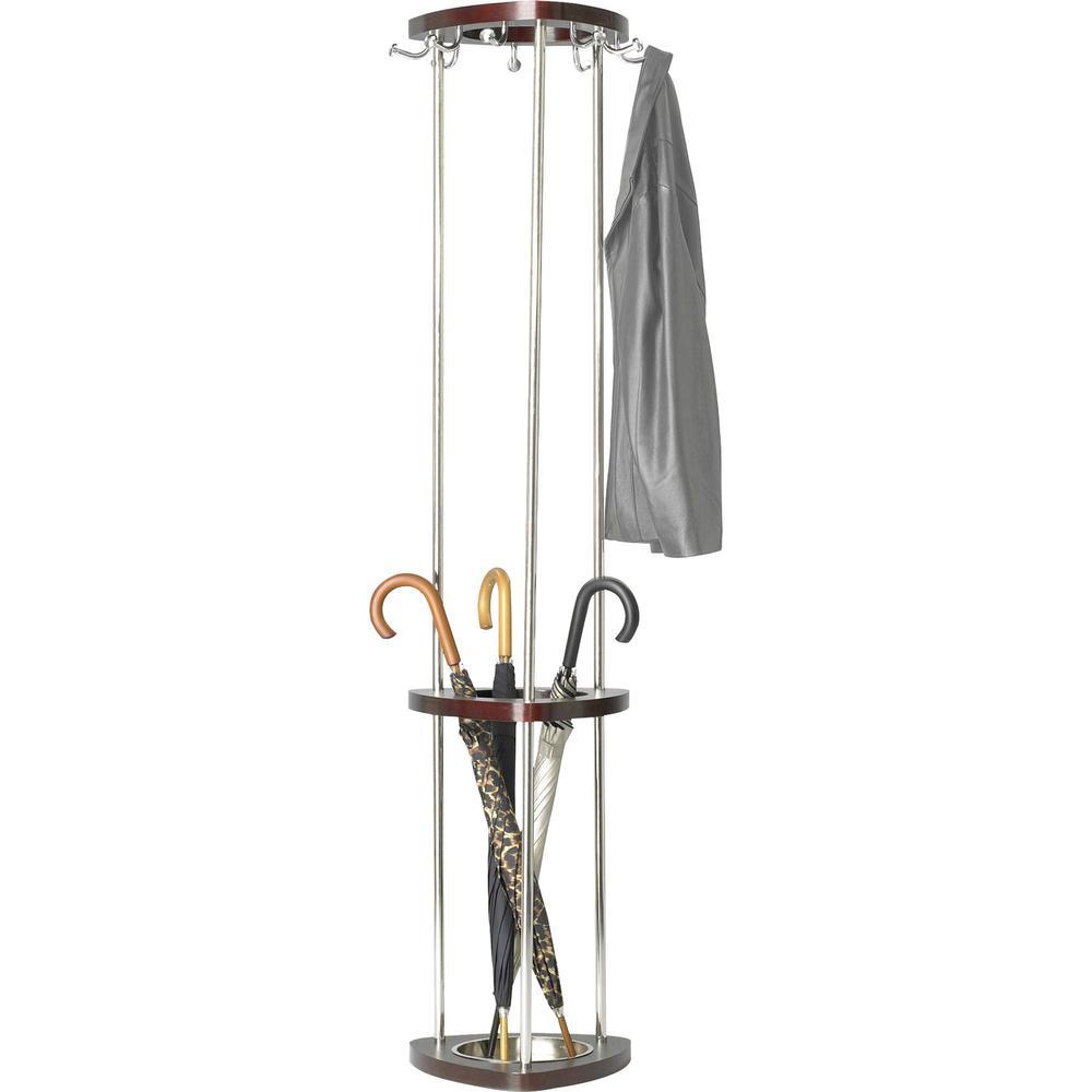 Safco Mode Umbrella Rack Wood Costumer 9 Hooks For