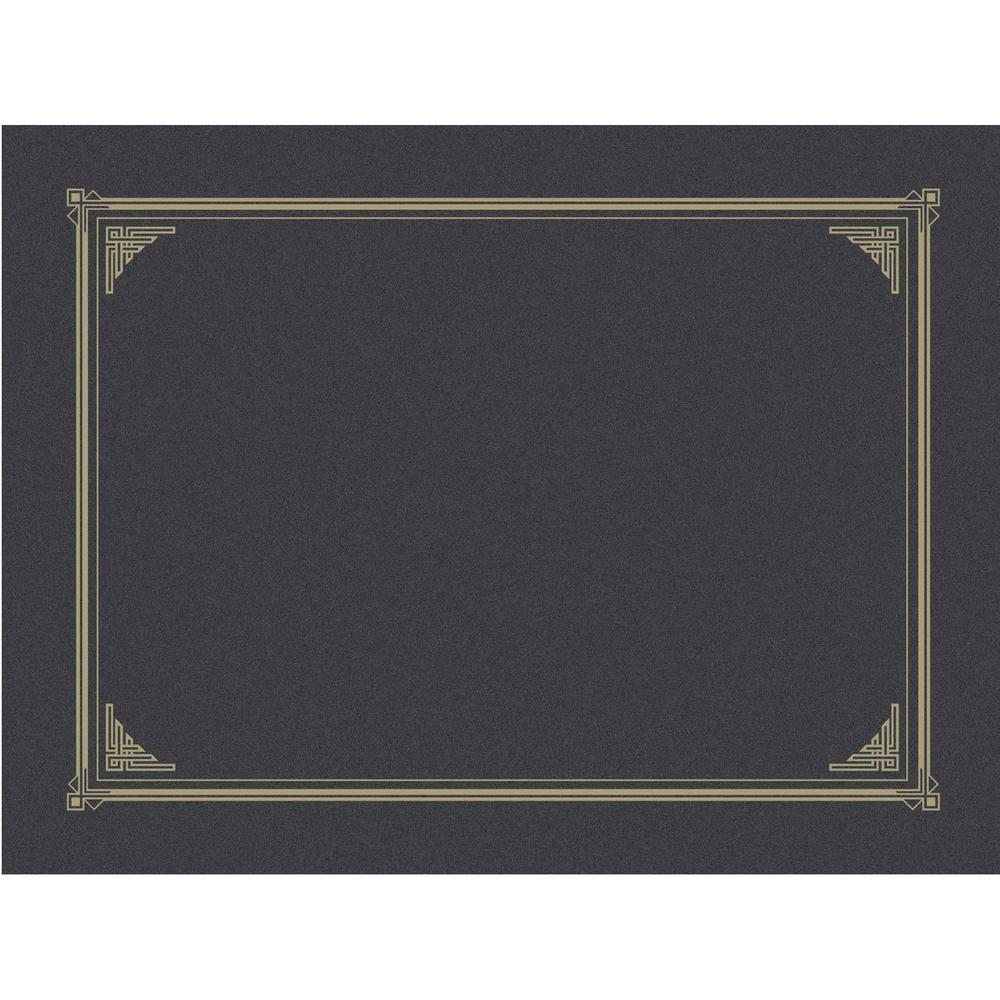 """Geographics A4, Letter Recycled Certificate Holder - 8 19/64"""" x 11 45/64"""" , 8 1/2"""" x 11"""" , 8"""" x 10"""" - Metallic Gray - 30% Recycled - 6 / Pack. Picture 1"""