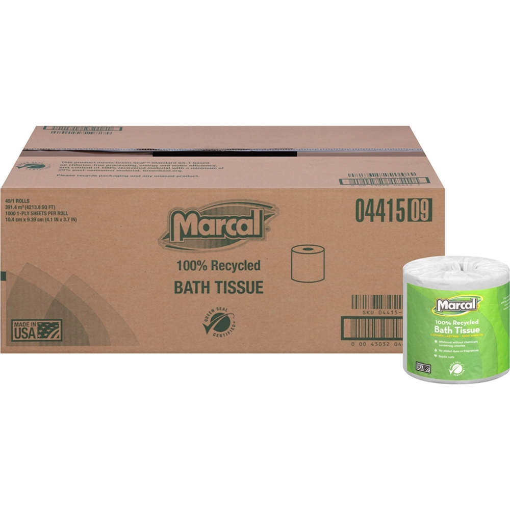 Marcal 100 recycled long lasting bath tissue x 3 for 2000 x 1000 bath