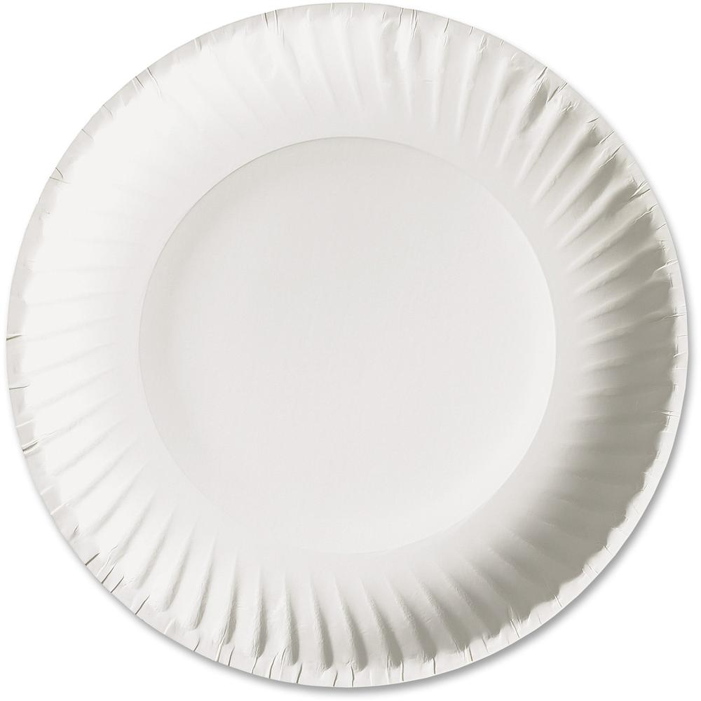 AJM Packaging Green Label Economy Paper Plates - 6  Diameter Plate - Paper - Microwave Safe - White - 1000 ...  sc 1 st  Bison Office & AJM Packaging Green Label Economy Paper Plates - 6