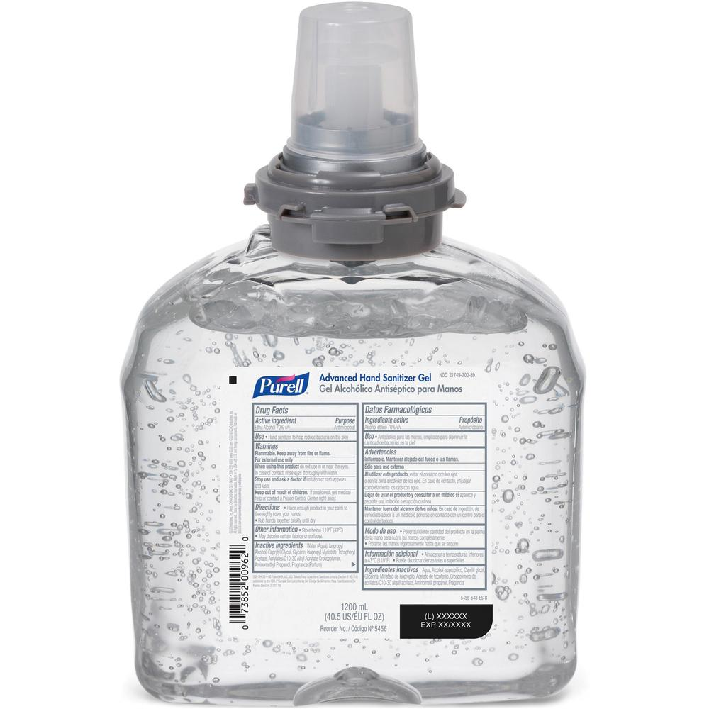 PURELL® Sanitizing Foam Refill - 40.6 fl oz (1200 mL) - Skin - White - 2 / Carton. Picture 1