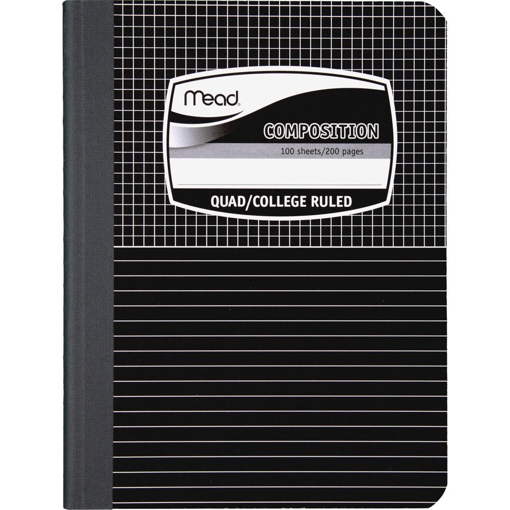 mead black cover graph composition book