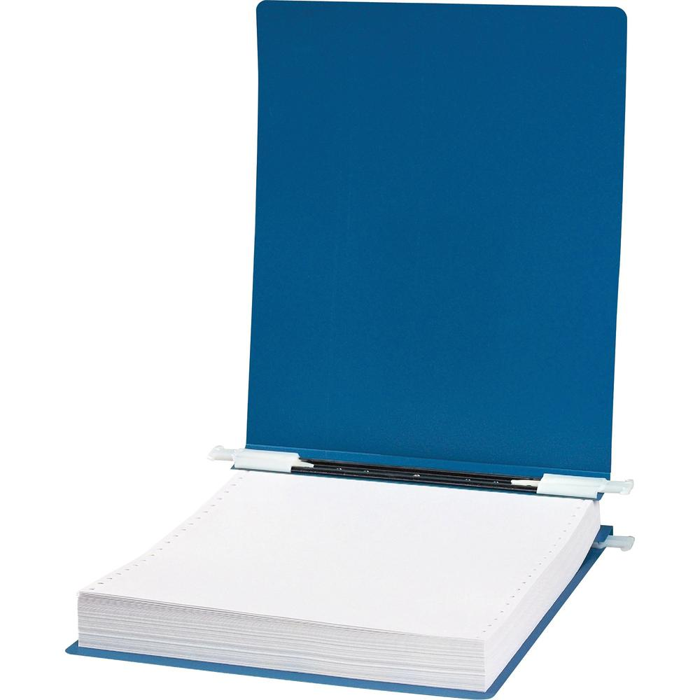"Acco ACCOHIDE Unburst Sheet 23 point Covers - 6"" Binder Capacity - 9 1/2"" x 11"" Sheet Size - Pressboard - Blue - Recycled - Split Resistant, Crack Resistant, Tear Resistant, Flexible, Retractable Fili. Picture 1"