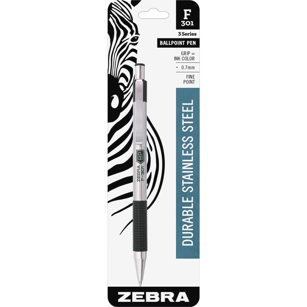 Zebra Pen Bca F 301 Stainless Steel Ballpoint Pens Fine