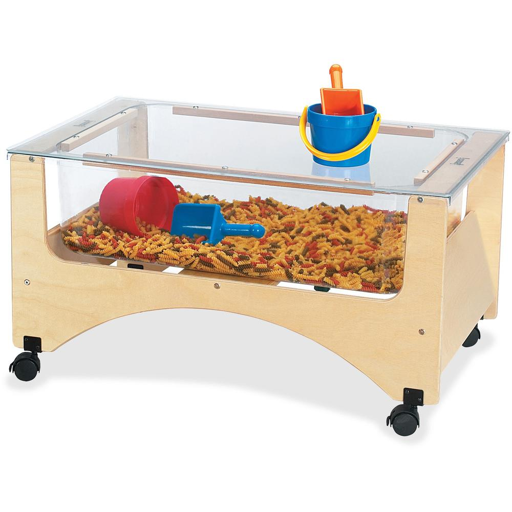 """Jonti-Craft Toddler See-thru Sensory Table - 20"""" Height x 37"""" Width x 23"""" Depth - Assembly Required - Baltic, Clear. Picture 1"""