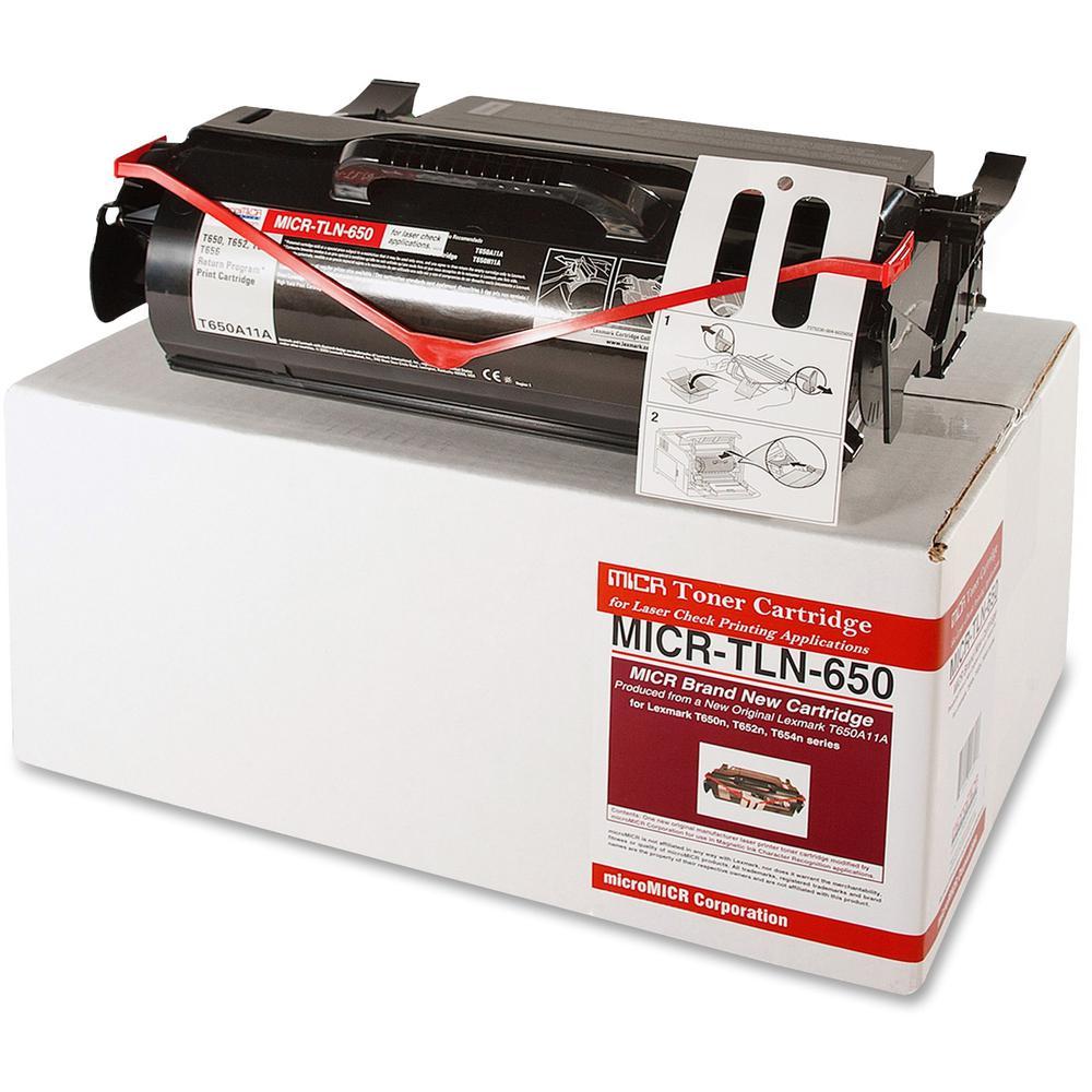 microMICR MICR Toner Cartridge - Alternative for Lexmark - Laser - 7000 Pages - Black - 1 Each. Picture 1