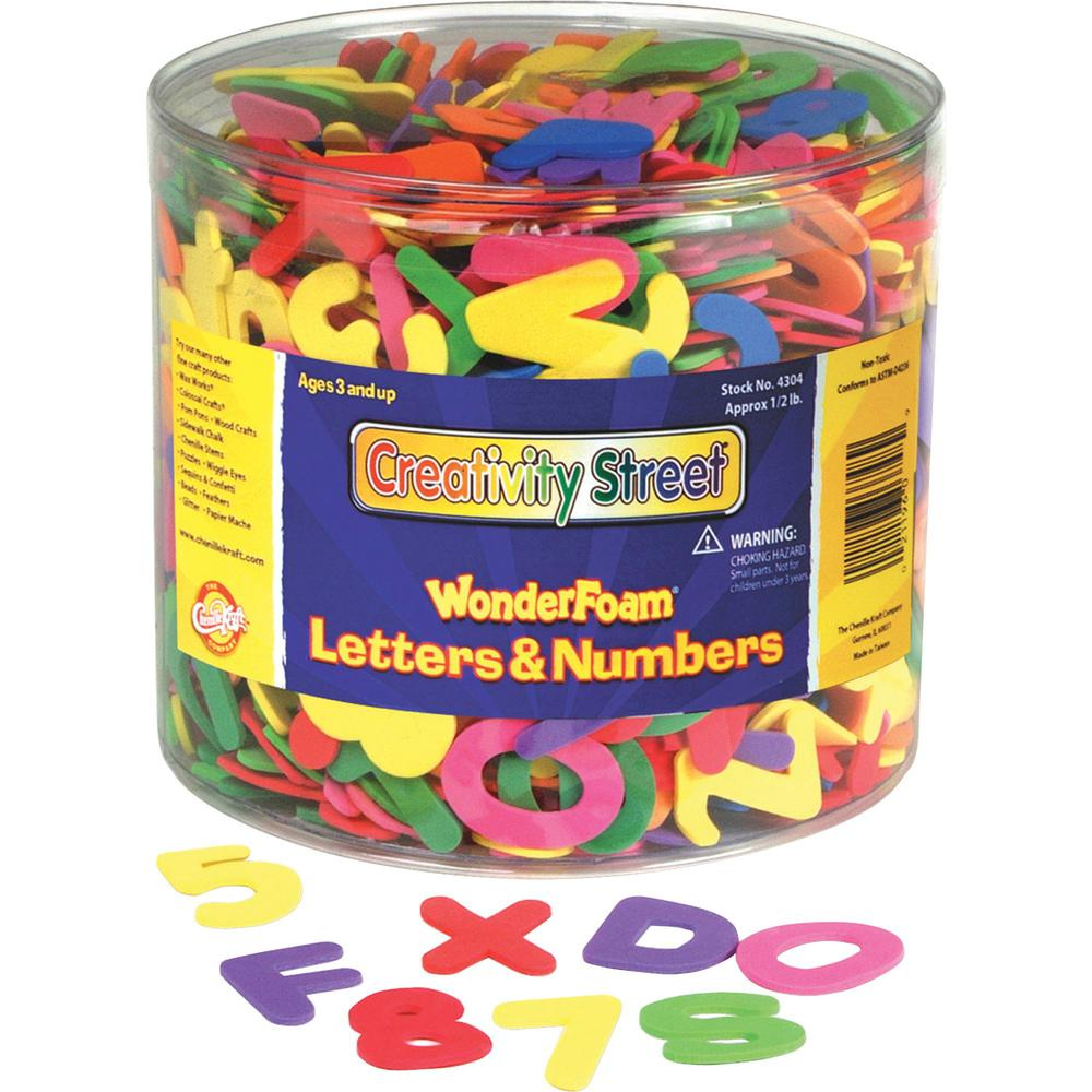 Creativity Street Wonderfoam Tub of Letters/Numbers - Assorted - 1 Set. Picture 1
