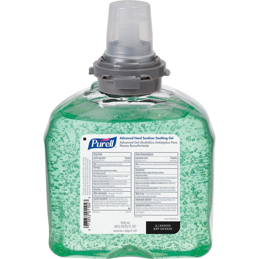 PURELL® Sanitizing Refill - 40.6 fl oz (1200 mL) - Kill Germs - Hand - Green - 1 Each. Picture 1