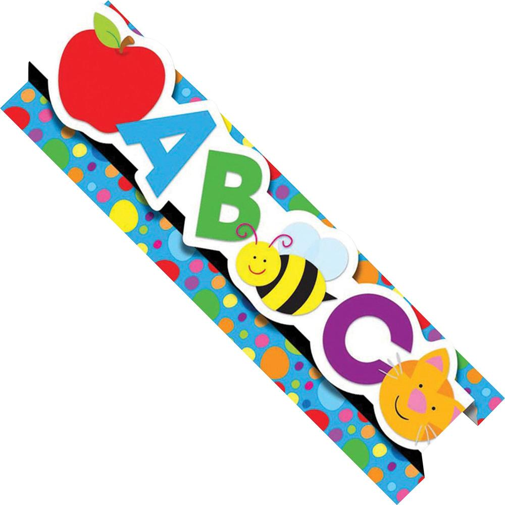 """Carson-Dellosa Pop-Its Borders - (Alphabet) Shape - Die-cut, Easy to Use - 3"""" Height x 24"""" Width - Assorted - 8 / Pack. Picture 1"""