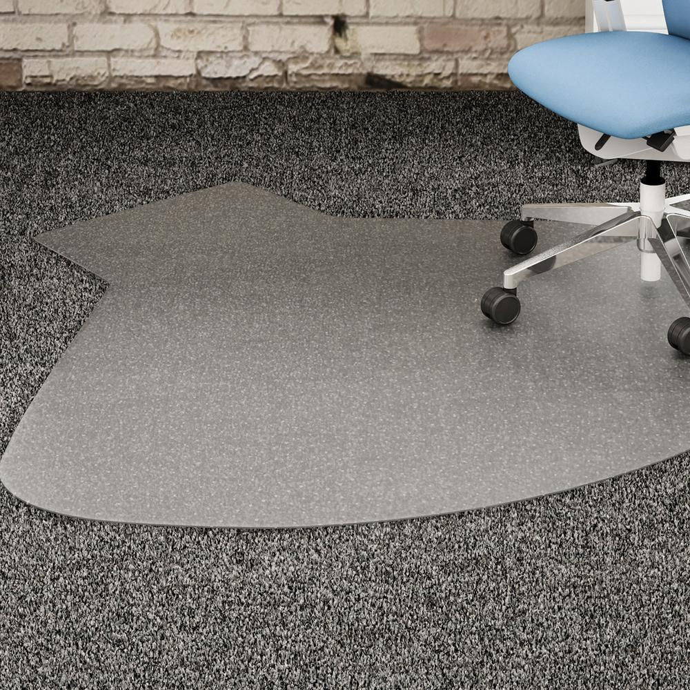 Lorell L Workstation Medium Pile Chairmat Carpeted Floor