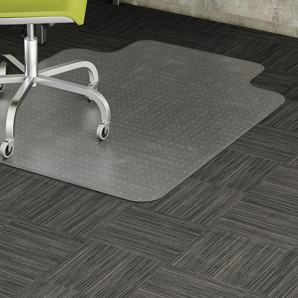 Lorell Wide Lip Low Pile Chairmat Carpeted Floor 53