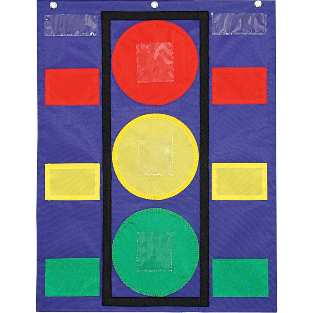 """Carson Dellosa Education Colorful Pocket Stoplight Chart - 6 Pocket(s) - 26"""" Height x 19.8"""" Width - Green, Yellow, Red - 1 Each. Picture 1"""