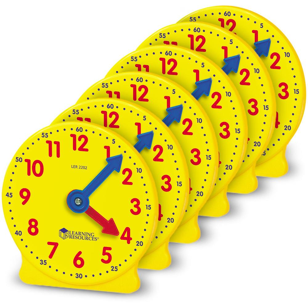 Learning Resources Pre K-4 Learning Clocks Set - Theme/Subject: Learning - Skill Learning: Time - 3-9 Year - Multi. Picture 1