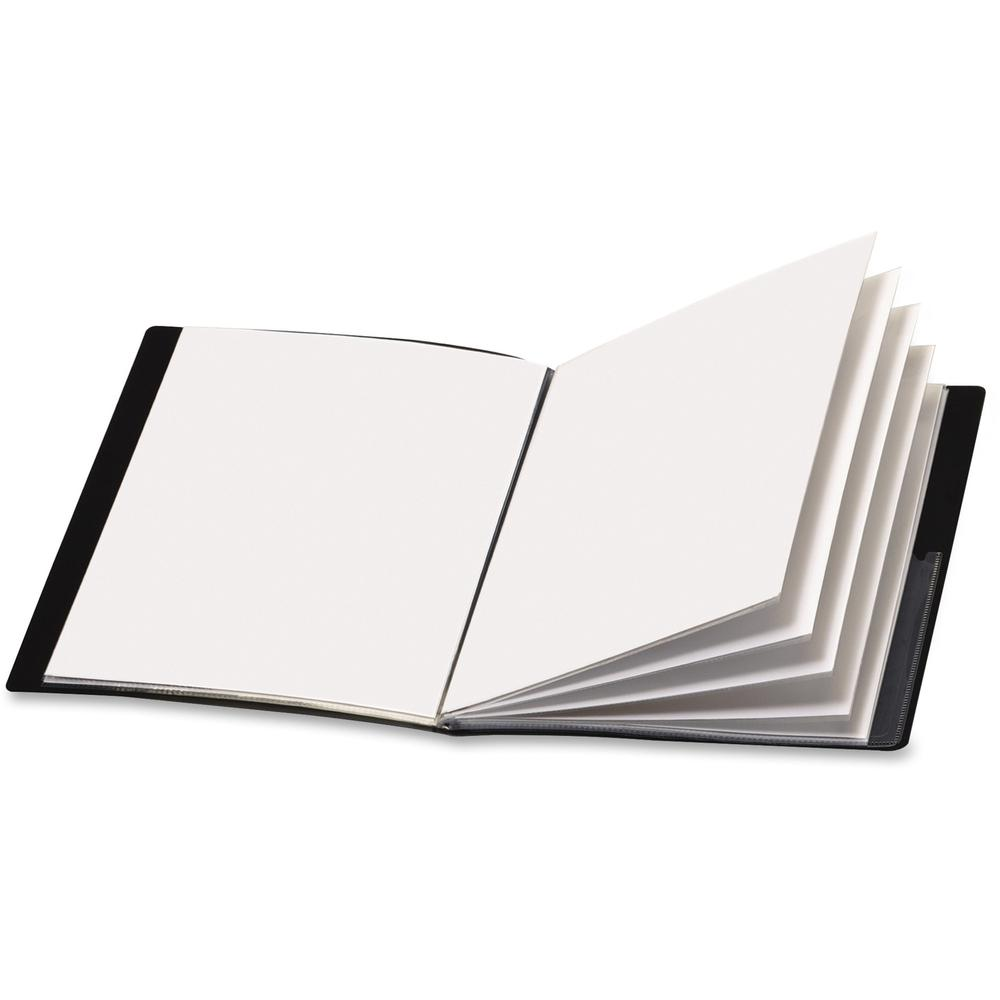 """Cardinal ShowFile Letter Presentation Book - 8 1/2"""" x 11"""" - 24 Sheet Capacity - 12 Internal Pocket(s) - Poly - Black - 1 Each. Picture 1"""