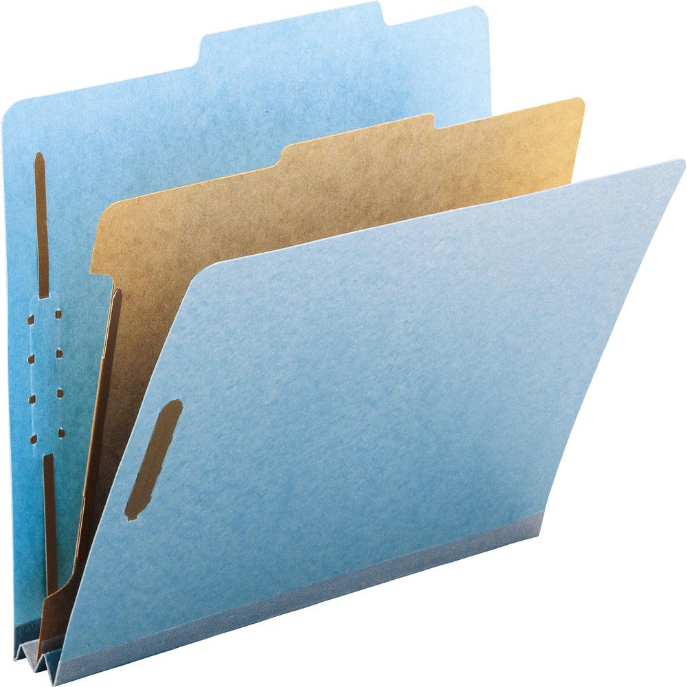 """Smead 100% Recycled Classification Folders - Letter - 8 1/2"""" x 11"""" Sheet Size - 2"""" Expansion - 2 x 2K Fastener(s) - 1"""" Fastener Capacity, 2"""" Fastener Capacity - 2/5 Tab Cut - Top Tab Location - Right . Picture 1"""