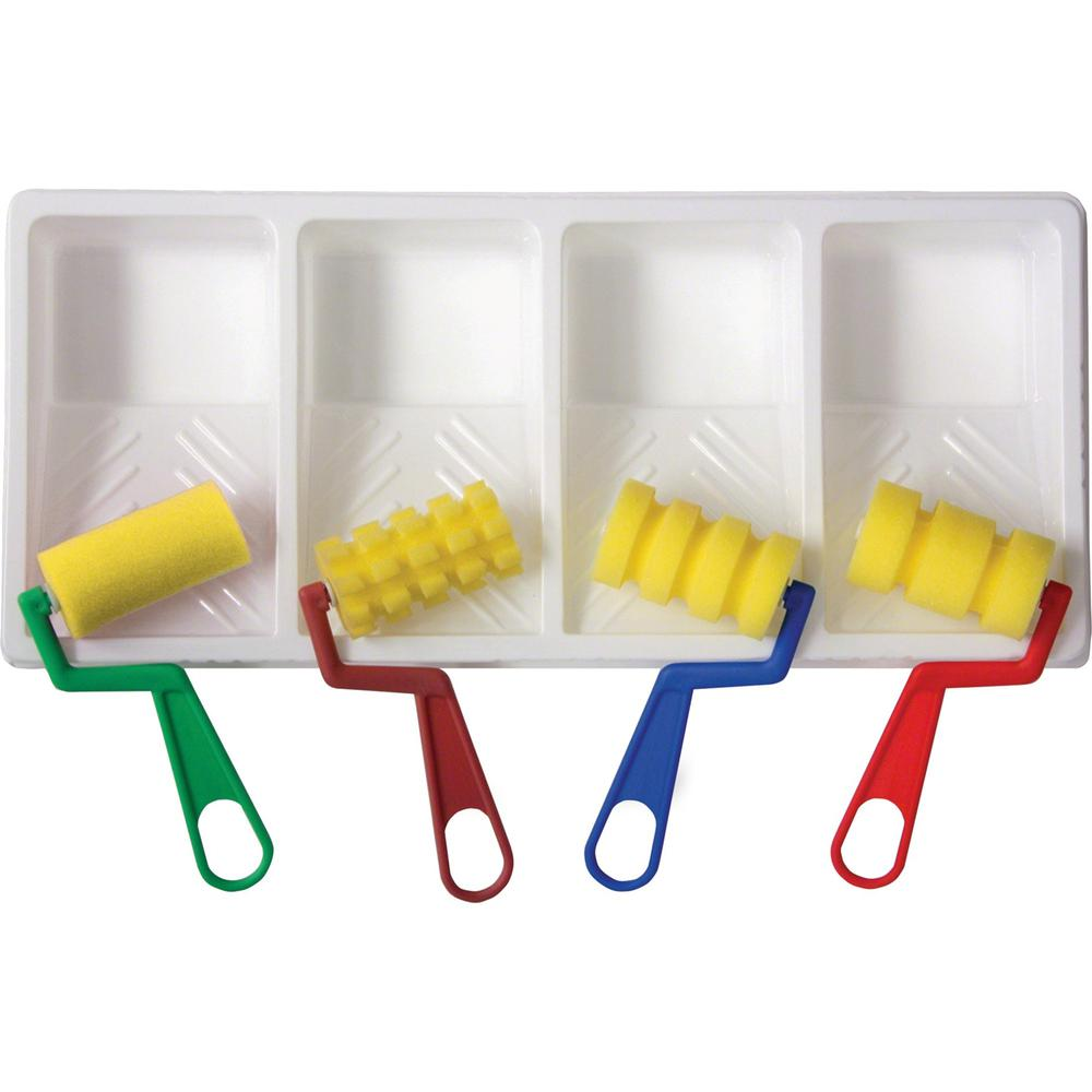 Creativity Street WonderFoam Foam Paint Tray Set - Painting - Recommended For - 1 Set - Assorted. Picture 1