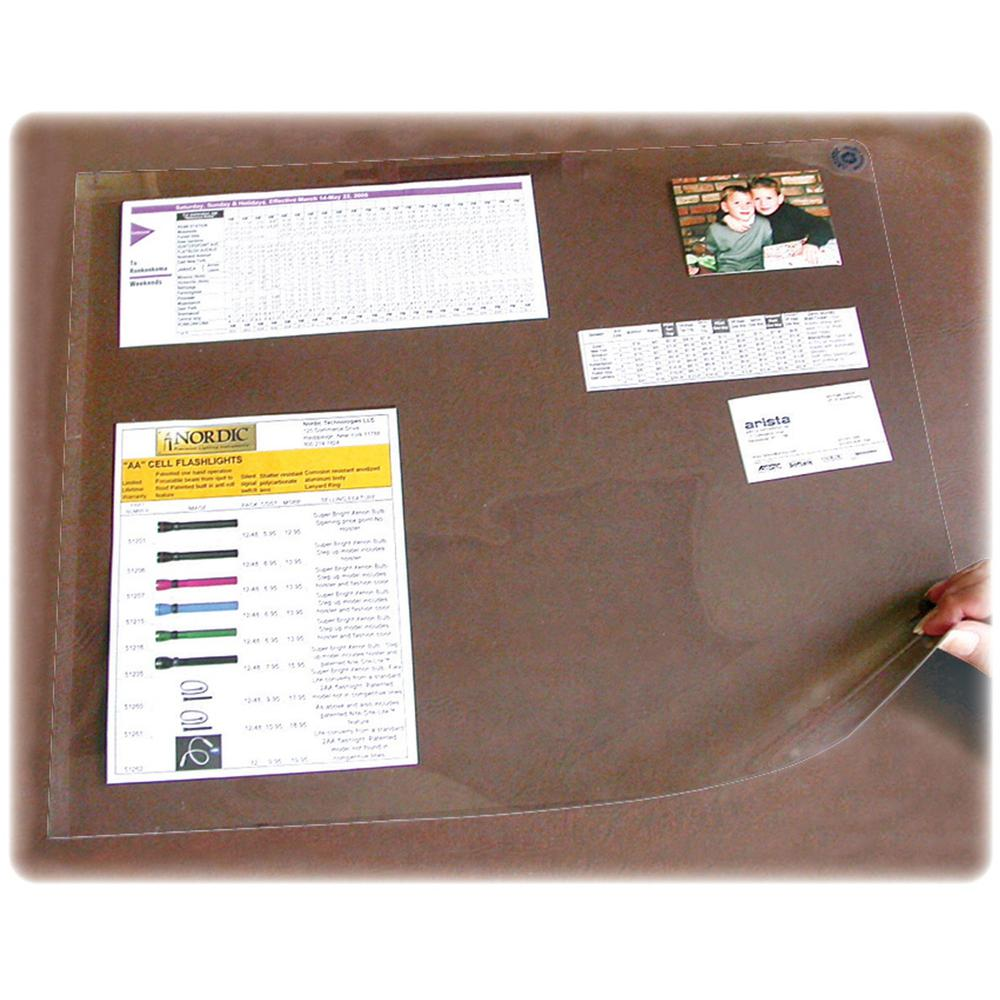 """Artistic Second Sight Clear Desk Protectors - Rectangle - 40"""" Width x 25"""" Depth - Plastic - Clear. Picture 1"""
