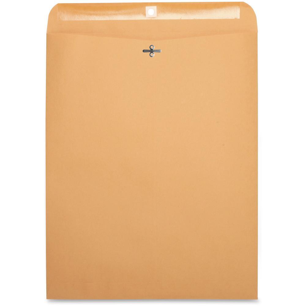 "Business Source Heavy-duty Clasp Envelopes - Clasp - #110 - 12"" Width x 15 1/2"" Length - 28 lb - Clasp - Kraft - 100 / Box - Kraft. Picture 1"