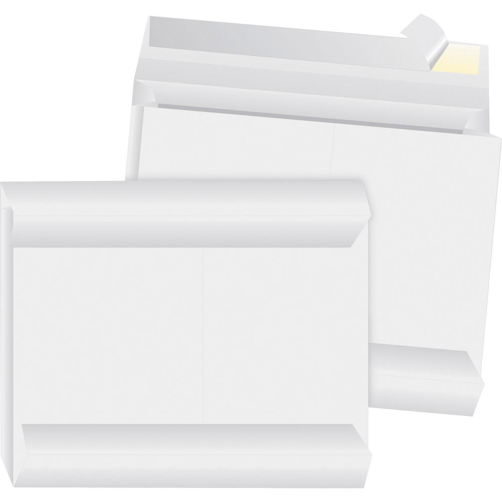 "Business Source Tyvek Side-openning Envelopes - Document - 10"" Width x 13"" Length - 2"" Gusset - Peel & Seal - Tyvek - 100 / Carton - White. Picture 1"
