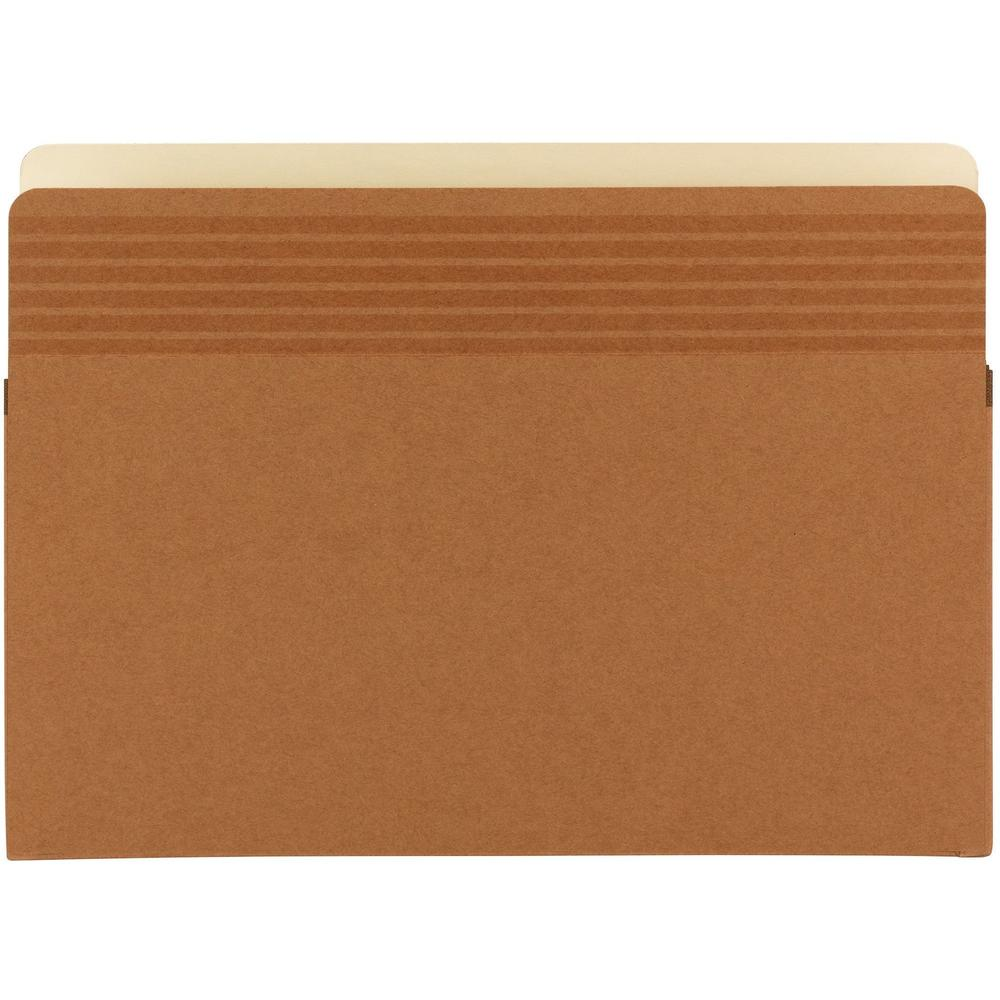 """Smead Easy Grip Straight Tab Cut Legal Recycled File Pocket - 8 1/2"""" x 14"""" - 1 3/4"""" Expansion - Redrope - Redrope - 30% - 25 / Box. Picture 1"""
