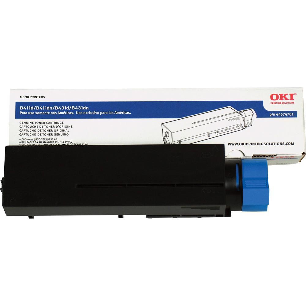 Oki Toner Cartridge - LED - 4000 Pages - Black - 1 Pack. Picture 1