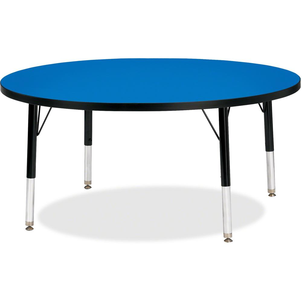 """Jonti-Craft Berries Toddler Height Color Top Round Table - Blue Round, Laminated Top - Four Leg Base - 4 Legs - 1.13"""" Table Top Thickness x 42"""" Table Top Diameter - 15"""" Height - Assembly Required - Po. Picture 1"""