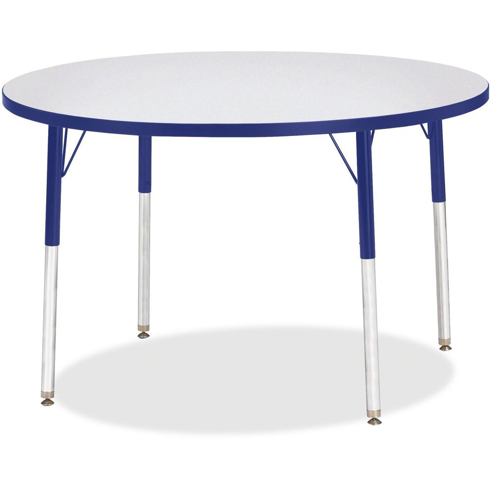 """Jonti-Craft Berries Adult Height Color Edge Round Table - Gray Round, Laminated Top - Four Leg Base - 4 Legs - 1.13"""" Table Top Thickness x 42"""" Table Top Diameter - 31"""" Height - Assembly Required - Pow. Picture 1"""