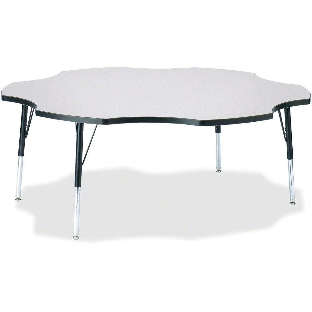 """Jonti-Craft Berries Elementary Height Prism Six-Leaf Table - Black, Laminated Top - Four Leg Base - 4 Legs - 1.13"""" Table Top Thickness x 60"""" Table Top Diameter - 24"""" Height - Assembly Required - Powde. Picture 1"""