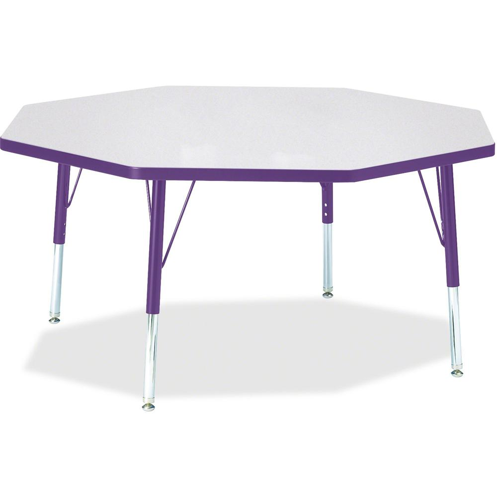 """Jonti-Craft Berries Toddler Height Color Edge Octagon Table - Laminated Octagonal, Purple Top - Four Leg Base - 4 Legs - 1.13"""" Table Top Thickness x 48"""" Table Top Diameter - 15"""" Height - Assembly Requ. Picture 1"""