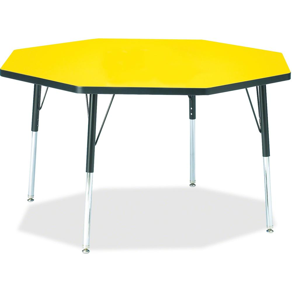 """Jonti-Craft Berries Adult Height Color Top Octagon Table - Laminated Octagonal, Yellow Top - Four Leg Base - 4 Legs - 1.13"""" Table Top Thickness x 48"""" Table Top Diameter - 31"""" Height - Assembly Require. Picture 1"""