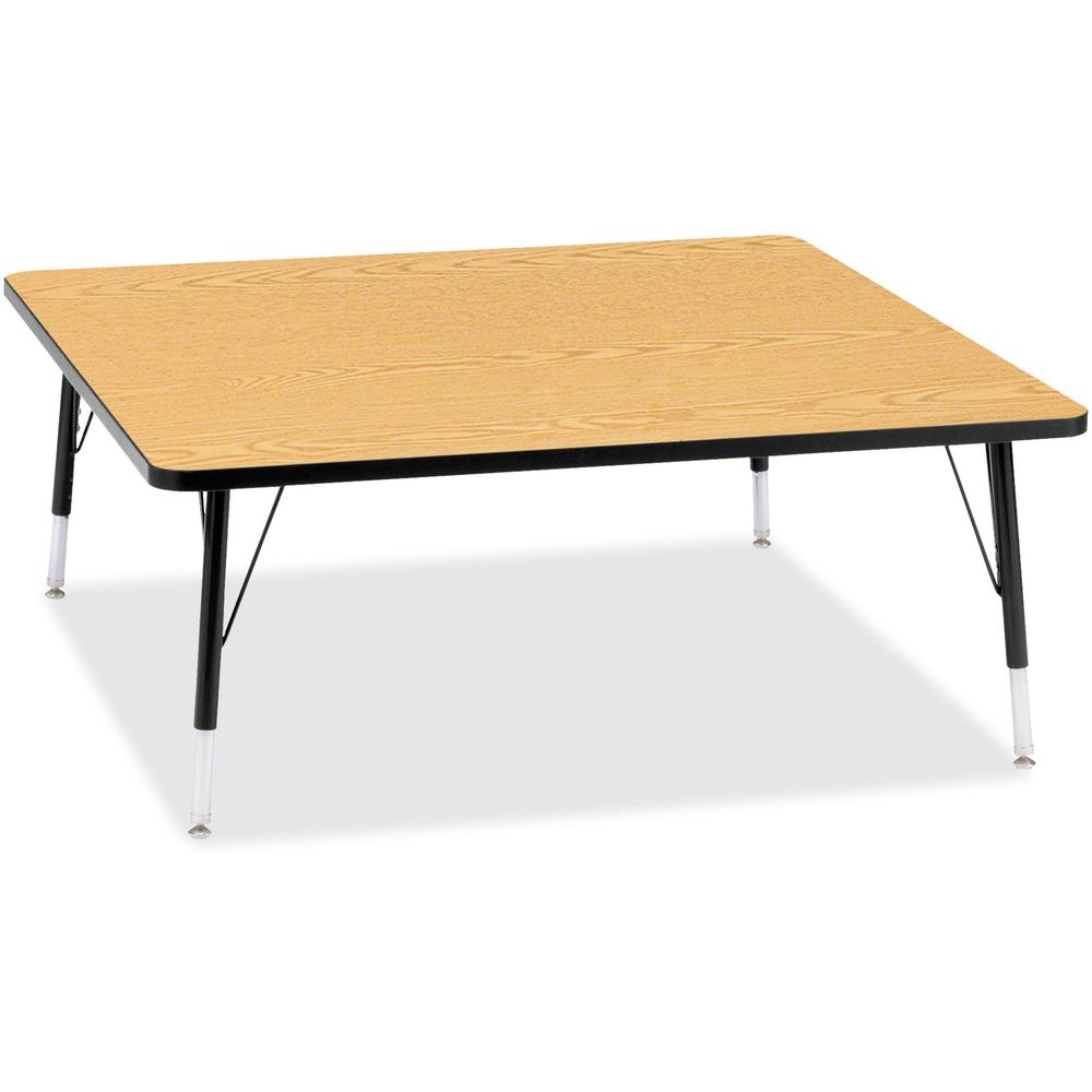 """Berries Toddler Height Color Top Square Table - Black Oak Square, Laminated Top - Four Leg Base - 4 Legs - 48"""" Table Top Length x 48"""" Table Top Width x 1.13"""" Table Top Thickness - 15"""" Height - Assembl. Picture 1"""