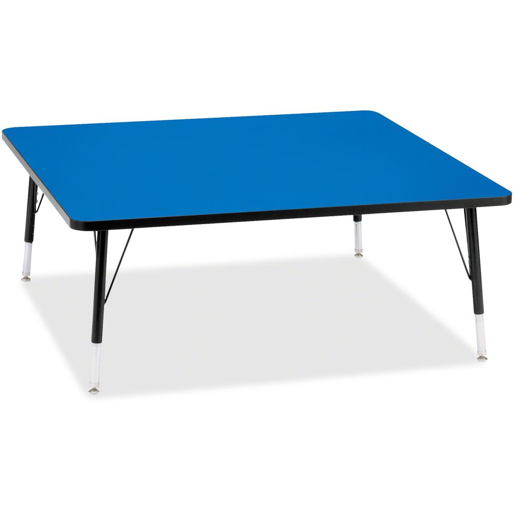"Berries Toddler Height Color Top Square Table - Blue Square, Laminated Top - Four Leg Base - 4 Legs - 48"" Table Top Length x 48"" Table Top Width x 1.13"" Table Top Thickness - 15"" Height - Assembly Req. Picture 1"