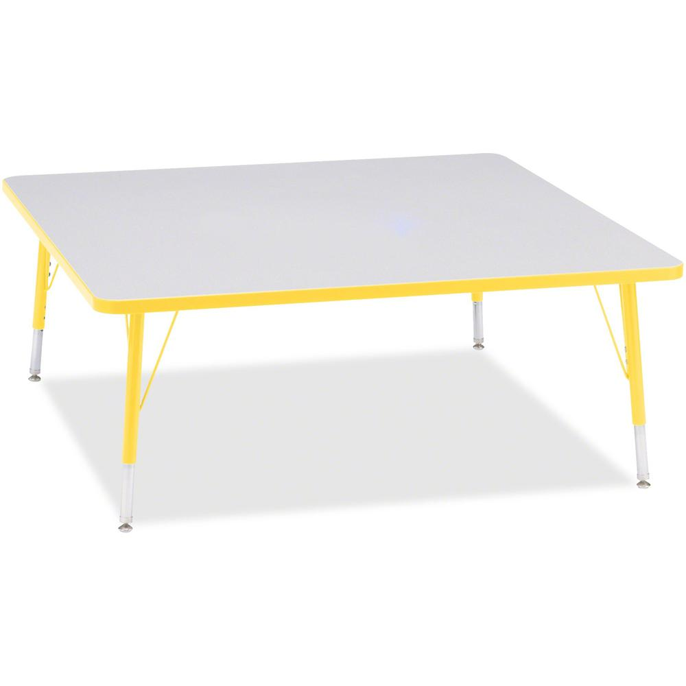 """Jonti-Craft Berries Toddler Prism Edge Color Square Table - Laminated Square, Yellow Top - Four Leg Base - 4 Legs - 48"""" Table Top Length x 48"""" Table Top Width x 1.13"""" Table Top Thickness - 15"""" Height . Picture 1"""