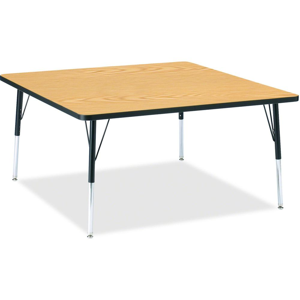 """Berries Adult Height Classic Color Top Squaree Table - Black Oak Square, Laminated Top - Four Leg Base - 4 Legs - 48"""" Table Top Length x 48"""" Table Top Width x 1.13"""" Table Top Thickness - 31"""" Height - . Picture 1"""
