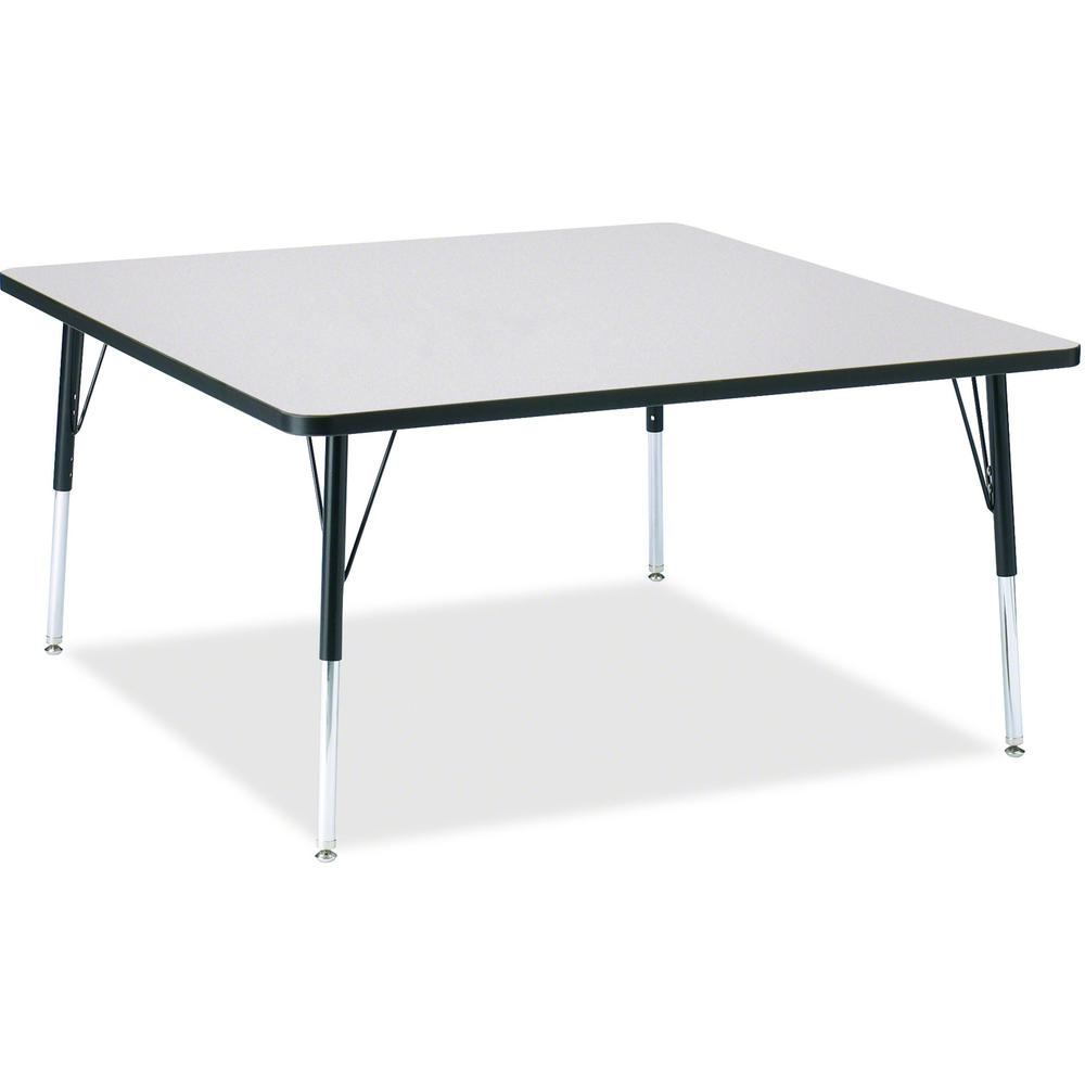 """Berries Adult Height Prism Color Edge Square Table - Black Square, Laminated Top - Four Leg Base - 4 Legs - 48"""" Table Top Length x 48"""" Table Top Width x 1.13"""" Table Top Thickness - 31"""" Height - Assemb. Picture 1"""