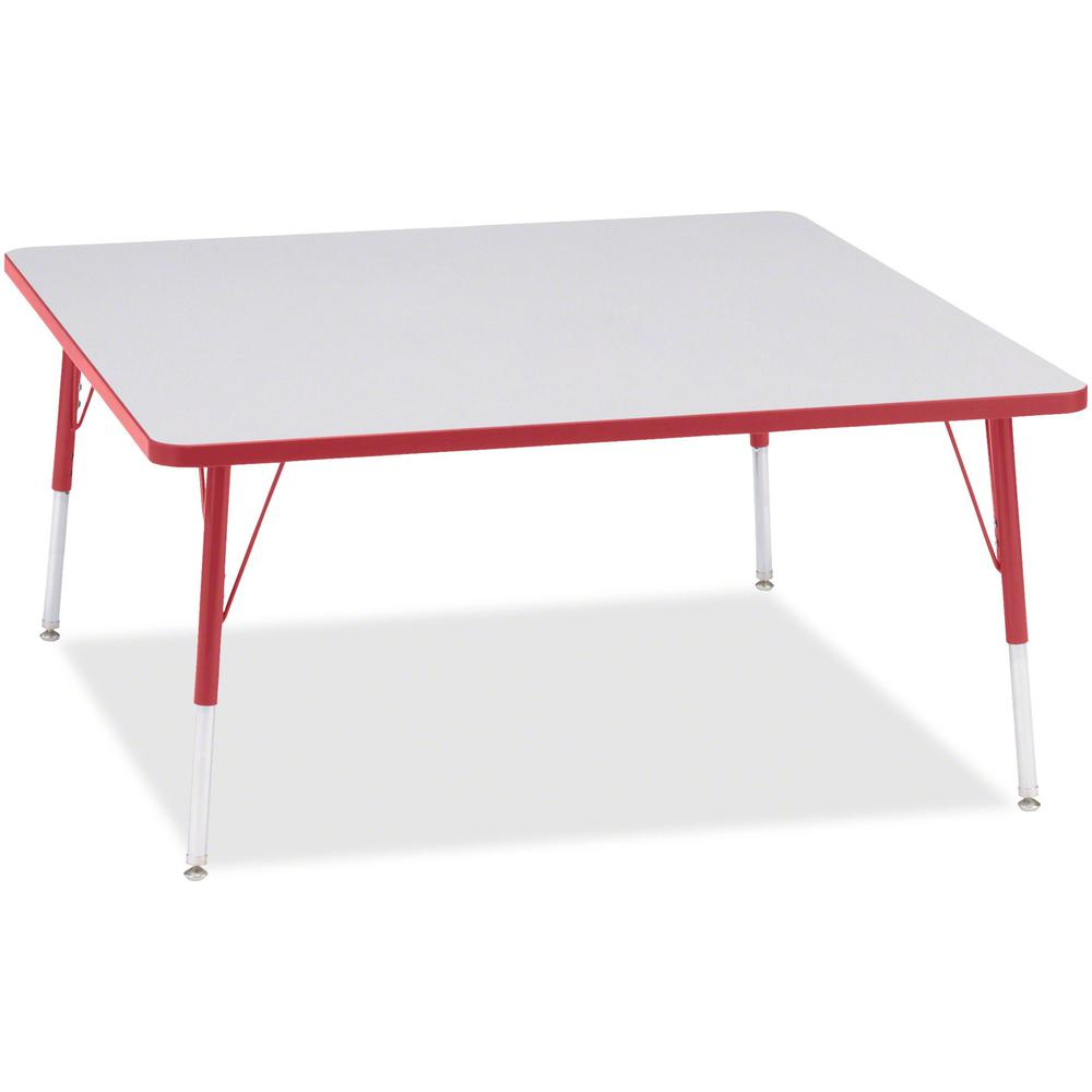 "Jonti-Craft Berries Adult Height Prism Color Edge Square Table - Laminated Square, Red Top - Four Leg Base - 4 Legs - 48"" Table Top Length x 48"" Table Top Width x 1.13"" Table Top Thickness - 31"" Heigh. Picture 1"