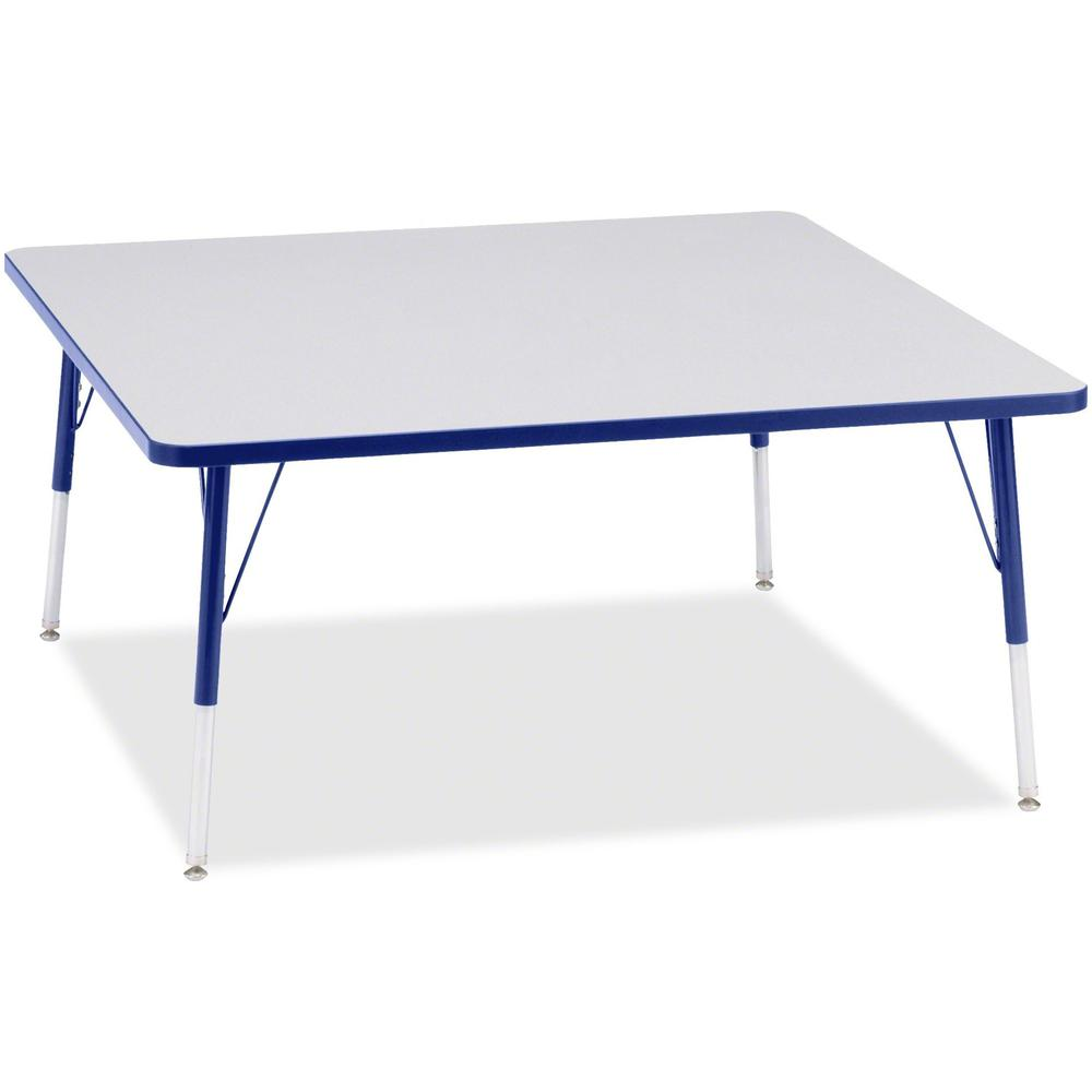 "Berries Adult Height Prism Color Edge Square Table - Blue Square, Laminated Top - Four Leg Base - 4 Legs - 48"" Table Top Length x 48"" Table Top Width x 1.13"" Table Top Thickness - 31"" Height - Assembl. Picture 1"