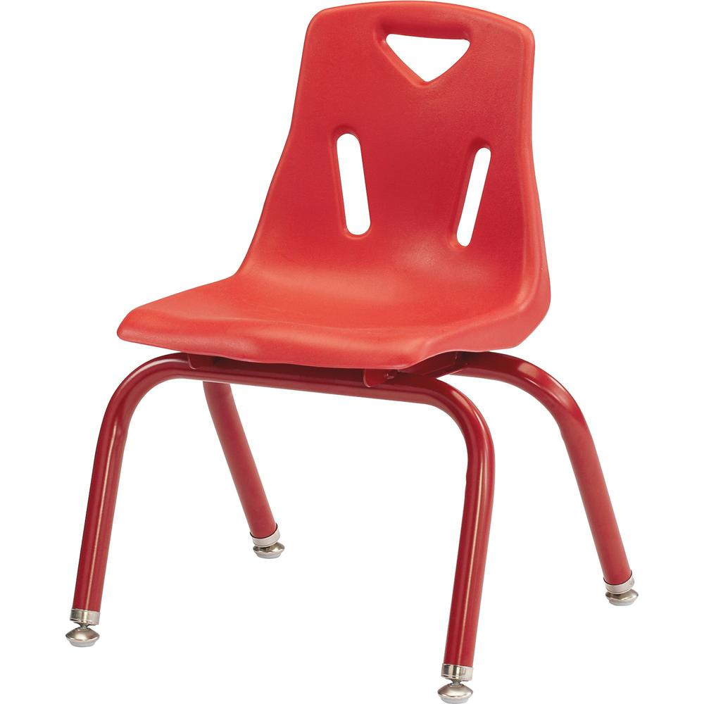"""Berries Powder-ctd Leg Color 14"""" Plastic Chair - Steel Frame - Red - Plastic, Polypropylene - 15.5"""" Width x 15.5"""" Depth x 22"""" Height - 1 Each. Picture 1"""